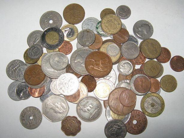Mais de 100 moedas antigas Estangeiras de varios paises