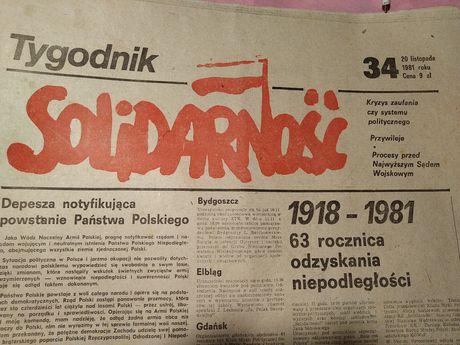Solidarność 20 XI 1981r.