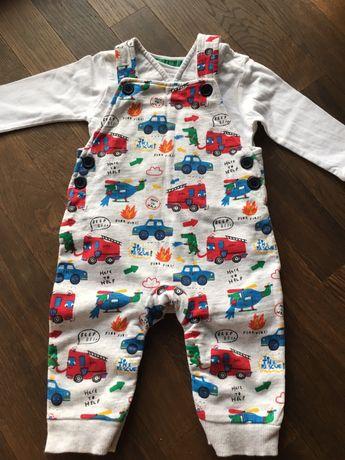 Body chłopięce+ogrodniczki spodnie Komplet niemowlęcy marki Debenhams