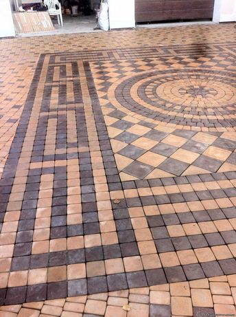 Услуги по укладке тротуарной плитки, Тротуарная плитка