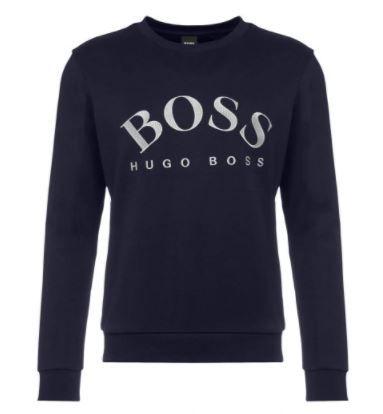 Hugo Boss Bluza Granatowa Logo Wyszywane / L