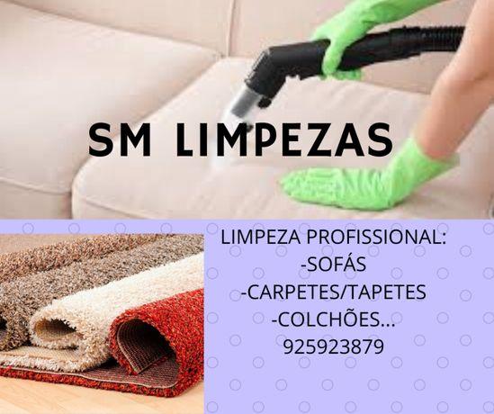 Limpeza de sofás, colchões, carpetes, cadeiras e cortinados.