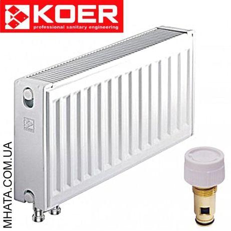 Стальные радиаторы KOER 22 тип боковое и нижнее подключение