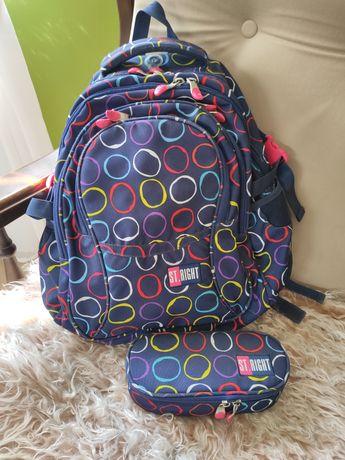Plecak szkolny + piórnik za 50zł