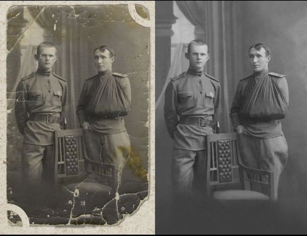 Обновление старых фотографий, ретушь
