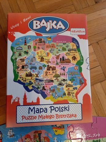 Puzzle małego bystrzaka Mapa Polski