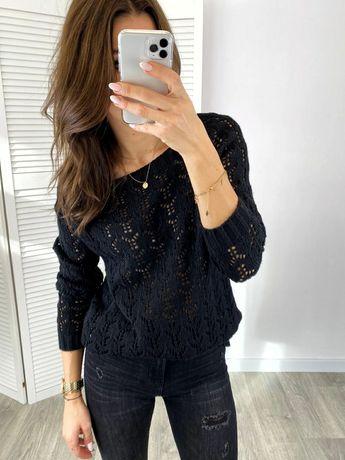 Sweter sweterek damski czarny nowy