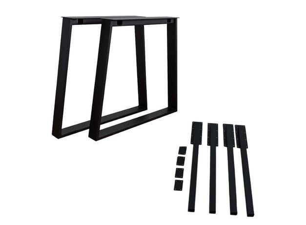 Nogi Industrialne LOFT z dostawkami stół z dostawkami trapezowe