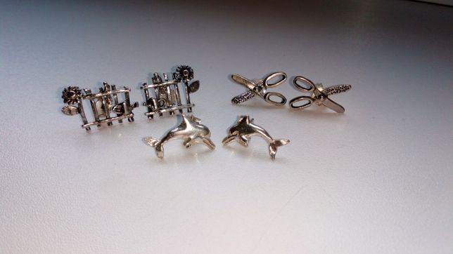 Kolczyki wkrętki ze srebra