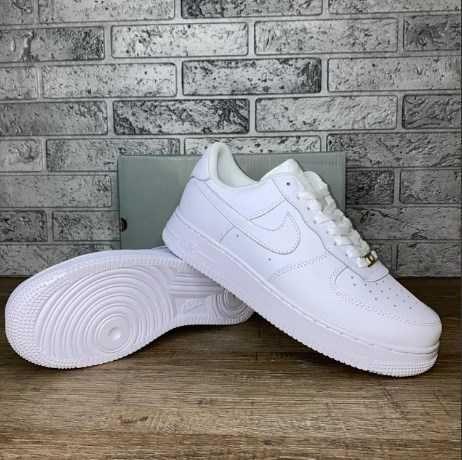 Кроссовки Nike Air Force White белые кроссы новые
