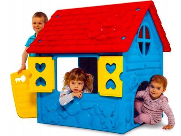 Domek do ogrodu dla dzieci 106x98x90cm plastikowy Domek ogrodowy