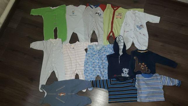 Пакет вещей на новородженого 0-4месяца  человечки кофточки
