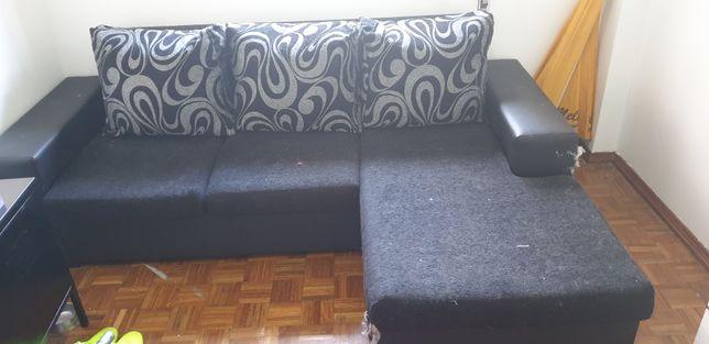 Sofá com chaise long modelar