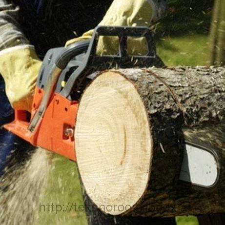 Порізка дров. Зріз дерев