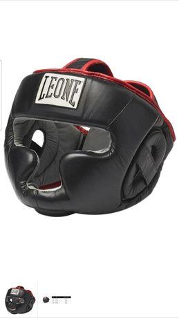 Новый Кожаный шлем Leon для бокса,кикбоксинга,или тейквандо