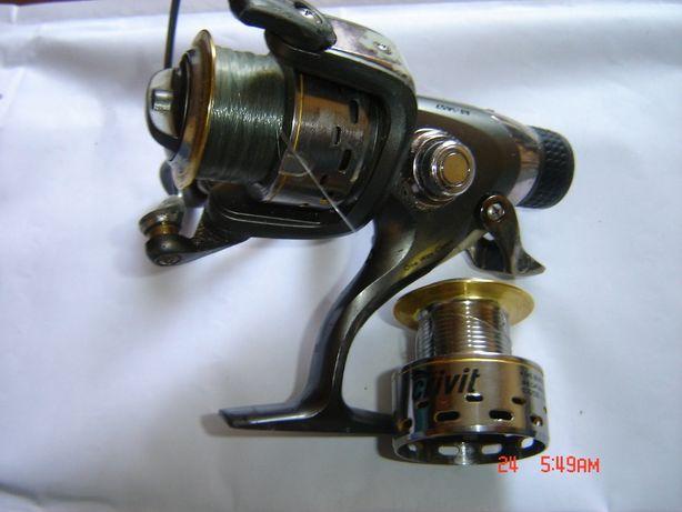 Wędka NOWA z kołowrotkiem używanym wolnym biegiem zestaw nr 10