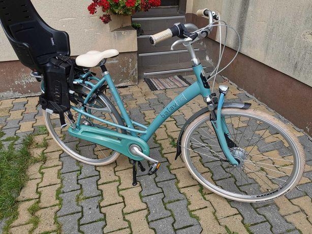 Rower damski batavus fotelik rowerowy