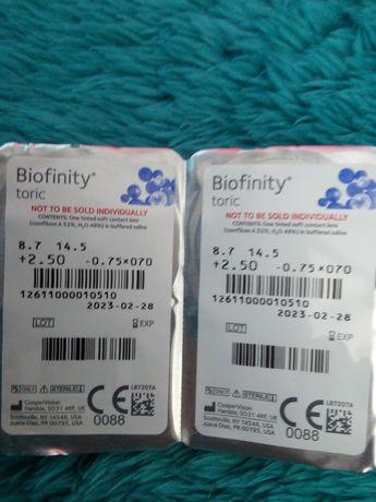 Soczewki kontaktowe toryczne Biofinity Toric 2 szt
