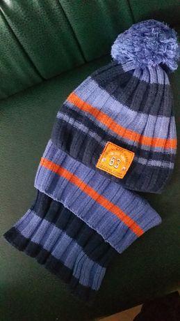 комплект шапка и баф для мальчика