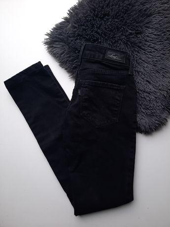 Czarne jeansowe spodnie Levi's 25 Bold Curve skinny