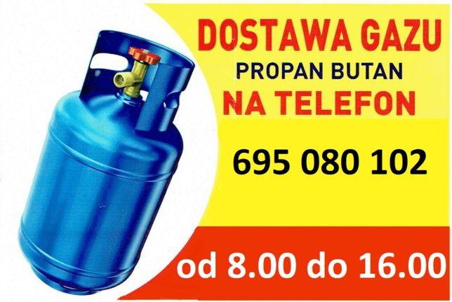 Dostawa gazu, butle gazowe
