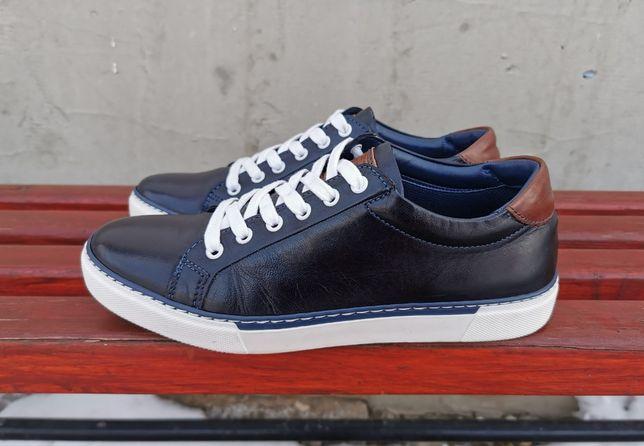Кожаные кроссовки кеды AM shoe company 40 р. Оригинал