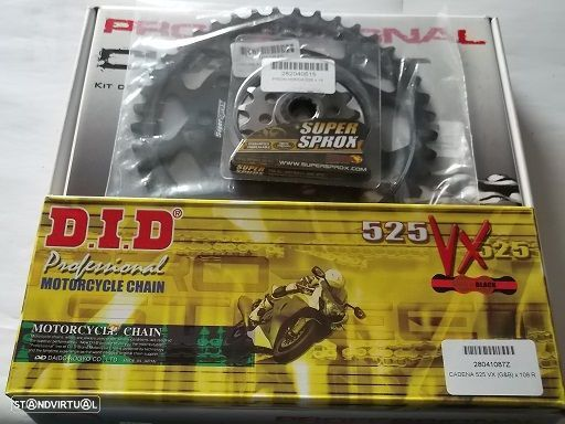 Kit transmissao corr. DID VX X-Ring Honda CBR 400 RR, CB 400 F, VFR 400 R