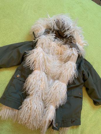Парка, куртка, шубка из меха ламы