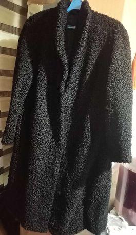 Нова натуральна каракульча шуба. Колір чорний. 52 розмір