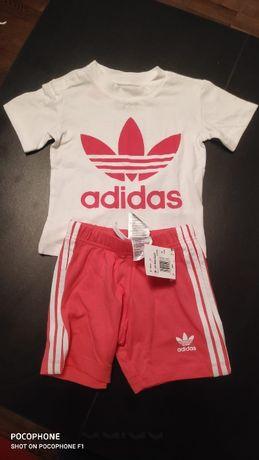 Adidas zestaw dla dziewczynki rozmiar 86