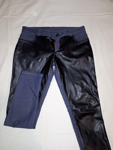 Продам джинсы с кожаными вставками.