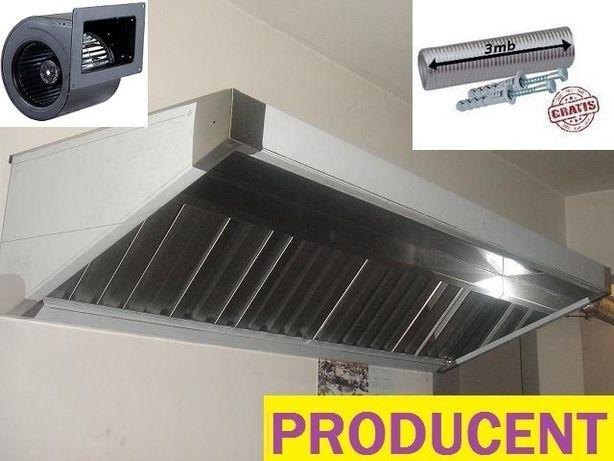 Okap gastronomiczny sg 2000x700x400 turbina filtry ATEST KURIER