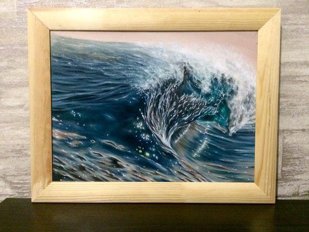 Картина маслом. Волна.