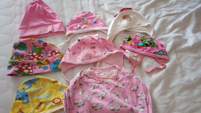 Чепчики шапочки для новорожденных