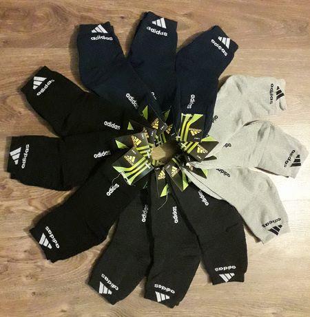 Мужские махровые носки Adidas и Nike.