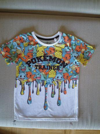 T-shirty rozmiar 122, ok. 7 lat, zestaw, komplet 4 sztuki