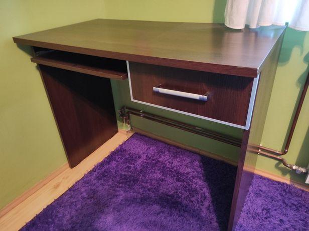 Biurko z wysuwaną półką i szufladą