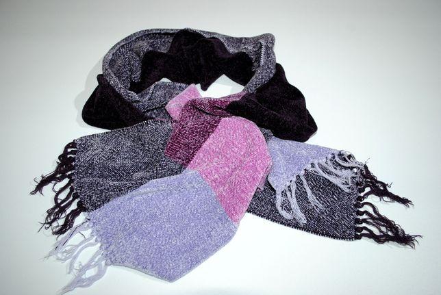 шарф нежный велюровый бархатный сиреневый фиолетовый