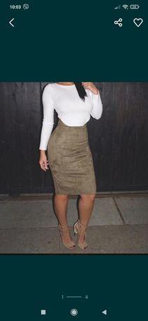 Юбка спідниця замшевая юбка стильна юбка