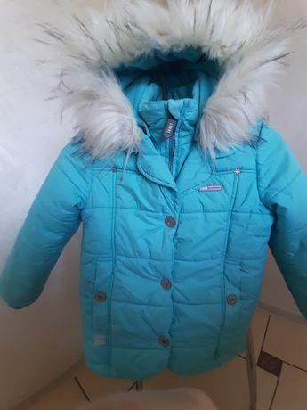 Зимняя курточка для девочки lenne 116