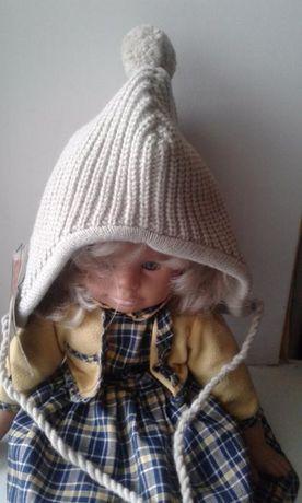 фирменная шапка Colin's модная теплая двойная, шапочка с завязками