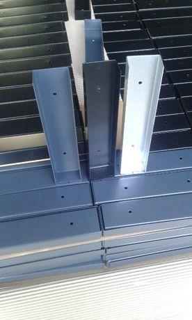 łącznik podmurówki metalowy ceownik stopka uchwyt ogrodzenie murek