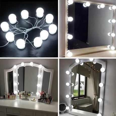 LED лампочки для зеркала 14 шт 3 режима HOLLYWOOD LIGHT