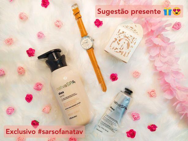 Boticário Nativa SPA Karité + relógio senhora