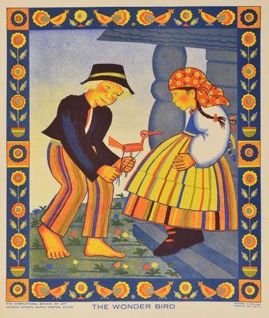 Obraz Maria Werten litografia barwna 1930 Oryginał