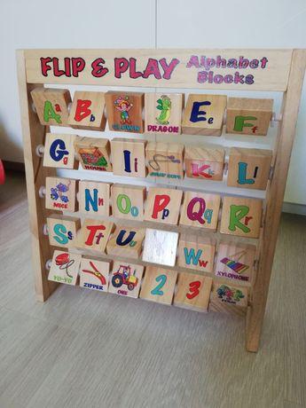 Liczydło, alfabet, w języku angielskim
