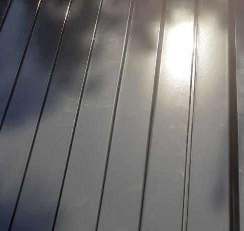 Słupki 60x40 grafit i zielony 2,3 m slupek do paneli ogrodzeniowych