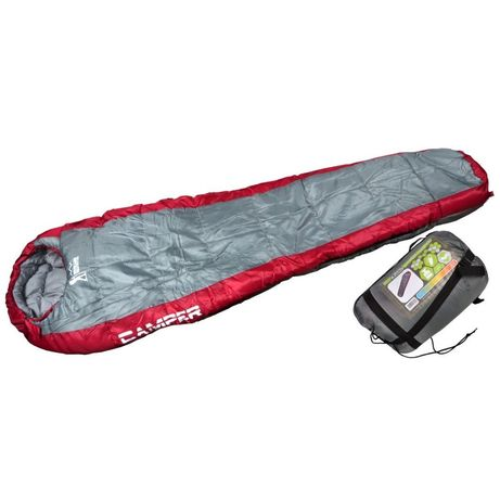 Śpiwór Camper Szary Czerwony 220X80X50Cm Royokamp