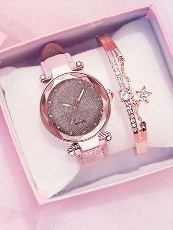 Conjunto relógio e pulseira