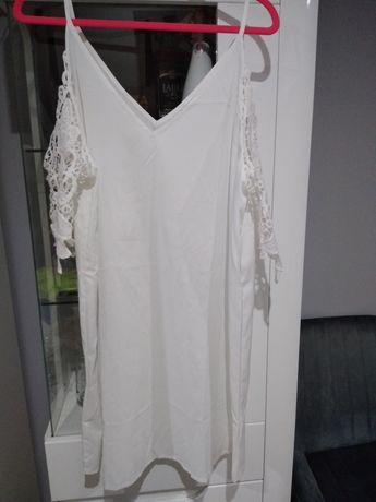 Sukienka wieczór panieński  luźna biała